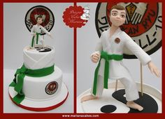Bar Mitzvah, Sport Cakes, Dessert, Let Them Eat Cake, Party Time, Cake Toppers, Biscuits, Taekwondo, Mariana