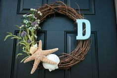 summer wreath & great use for seashells