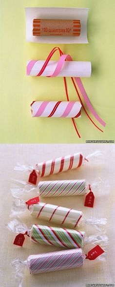 Roll of Coins Stocking Stuffer | 31 Cheap And Easy Last-Minute DIY Gifts They'll Actually Want