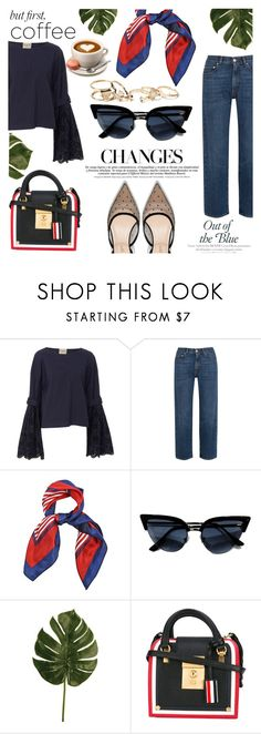 """""""Coffee time in France"""" by kenguri ❤ liked on Polyvore featuring AlexaChung, Thom Browne and GUESS"""