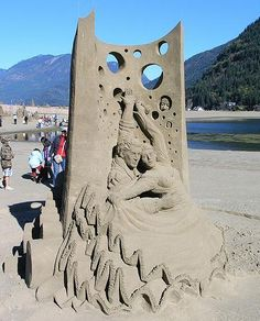 Sand sculpture #art
