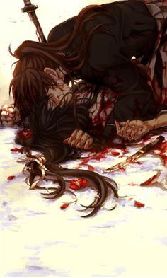 Lloro tanto con esta escena... Kenshin y Tomoe