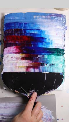 Thick Acrylic Painting with Trowel - Check out this acrylics FAQs sheet - Acrylic Pouring Art, Acrylic Painting Canvas, Acrylic Art, Canvas Art, Acrylic Painting Inspiration, Acrylic Colors, Easy Paintings, Abstract Paintings, Abstract Painting Techniques