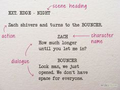 How to Write Movie Scripts like a Professional Writer Writing A Movie Script, Film Script, Book Writing Tips, Writing Words, Writing Help, Writing Prompts, Script Writing Format, Book Writer, Acting Monologues
