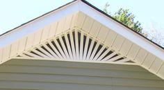 North Alabama Vinyl Specialists - Gable Vents - Athens, AL Exterior Trim, Exterior Design, Exterior Colors, House Eaves, Gable Roof Design, Attic Vents, Gable Trim, Cottage Names, Porch Columns