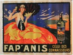 Fap'Anis, 1930s - original vintage poster by Delval listed on AntikBar.co.uk