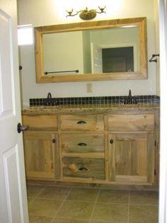 Photo Gallery Website Beetle Kill Pine Bathroom Vanity