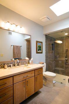 Master Bath Tucson Condo Conversion By Interior Trends Remodel And Design  U201cITRu201du2026 | Bathrooms | Pinterest | Gray Cabinets, Condos And Glass Lights