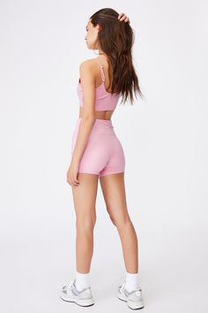 Cheeky Elevated High Waisted Bike Short
