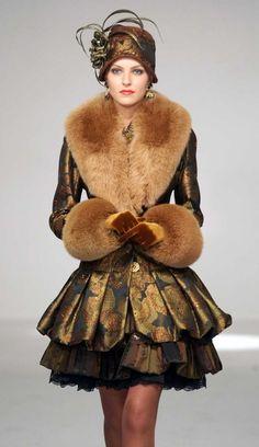 Slava Zaitsev – russian fashion designer Fur Fashion, Look Fashion, High Fashion, Winter Fashion, Womens Fashion, Fashion Design, Fashion Images, Ladies Fashion, Fashion Trends