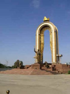 Monument of Amir Ismail Samani in Dushanbe, Tajikistan Cities, Asian Continent, Ancient Persian, Wide World, Silk Road, Central Asia, National Museum, Capital City, Architecture Design