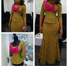 Beautiful Aso Ebi Lace Styles Blouse and Skirt.Beautiful Aso Ebi Lace Styles Blouse and Skirt African Print Dresses, African Print Fashion, Africa Fashion, African Fashion Dresses, African Dress, Ghanaian Fashion, African Prints, African Attire, African Wear