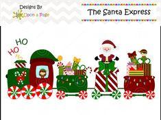 christmas santa train girls clipart choo cho polar express santa rh pinterest com Trains at Christmas Christmas Train Clip Art Black and White