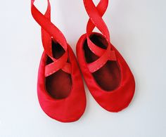 Red Baby Ballerina Slippers. $28.00, via Etsy.