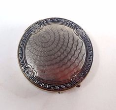 Vintage KARESS WOODWORTH Guilloche Silver 1926  Powder Compact