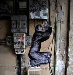 Funny Paste-On Street Art That Interacts With The Surroundings