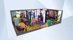 Sieh dir dieses Zimmer in der Die Sims 4-Galerie an! - ^^ #MOO#nocc#ccfree#kitchen#küche#colorful#bunt#dining#bar#esszimmer#moviehangoutstuff#boho#playtested