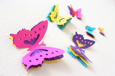 Hey, I found this really awesome Etsy listing at https://www.etsy.com/listing/250823545/large-wall-art-3d-butterflies-multicolor