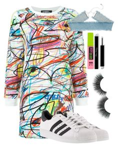 """""""Untitled #1650"""" by mfr-mtz ❤ liked on Polyvore featuring Jeremy Scott, adidas and Maybelline"""