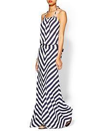 Michael Stars Exclusive Stripe Halter Maxi Dress