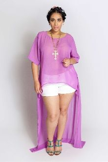 YK Chiffon Blouse Dress I was just thinking I am going to do a look like this with shorts. <3