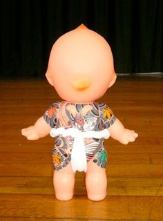 "Tattooed ""Yakuza"" Kewpie Doll"
