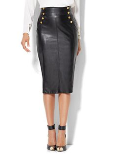 Shop Faux-Leather Pencil Skirt . Find your perfect size online at the best price at New York & Company.