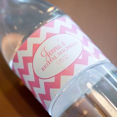 Printable Personalized Water Bottle Labels Jenna by KaydenAshley, $15.00