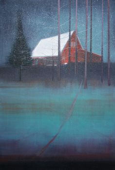 "Saatchi Art Artist Thomas Lamb; Painting, ""House Amongst Trees in the Snow"" #art"