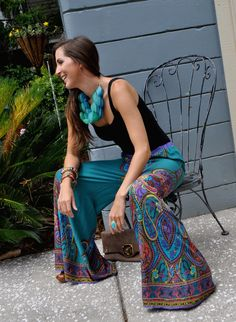 Paisley Palazzo Pant $48.50 Love the outfit. Just a few tweaks and less color pop. So cuteee