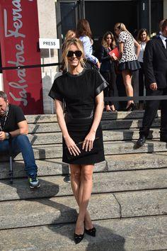 Elena Barolo wearing Salvatore Ferragamo at the Women's Spring-Summer 2015 Runway Show