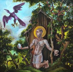 Leonard Greco St Kevin and the Blackbird 2016