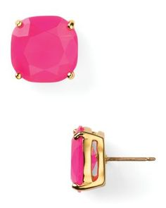 """These kate spade new york studs will add some color to your day. 