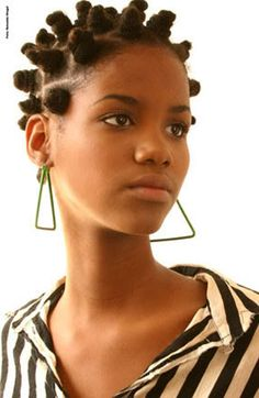 Bantu knots hairstyle #officiallynatural