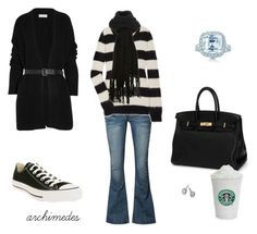 """""""Black and White and Bling"""" by archimedes16 ❤ liked on Polyvore featuring MICHAEL Michael Kors, Heaven Sent, Converse, Hermès, Tiffany & Co., DKNY, Fantasy Jewelry Box, women's clothing, women and female"""