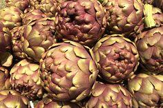 roman cimarolo artichokes at the market