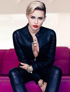 Miley Cyrus is Edgy in Fashion Magazine's November 2013 Cover Shoot #MileyCyrus #FashionMagazine #photoshoot