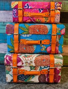 fabric covered trunks...