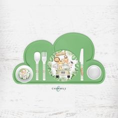 Our personalized Children's Safari Dinner Set is made from high quality BPA free melamine. Each dinner set includes a plate, bowl, mug and cutlery. And best of all, it's dishwasher safe on the top shelf. Safari, Food Temperatures, Gabel, Dinner Sets, 4 Year Olds, Teller, Plates, Mugs, Illustration