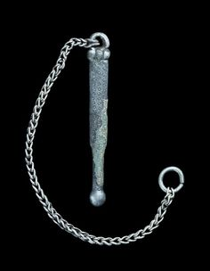Viking Silver Ear Spoon With Chain, 9th-11th Century Ear-spoons...