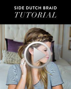 how to do a side dutch braid hair tutorial // half half down dutch braid hair…