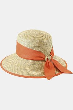 Sunkist straw hat with a sash for a splash of color.