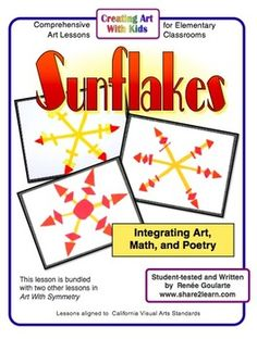 Sunflakes!  A geometry art project!