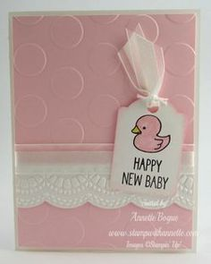 One Tag fits All baby card, Stampin' Up! www.stampwithannette.com