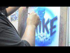 Airbrushing Name Designs
