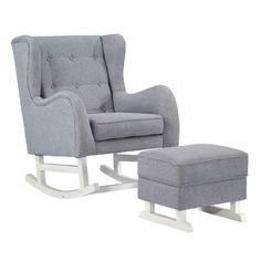 The Baby Lounge Chair with Ottoman is perfect for a little rockin' relaxation…
