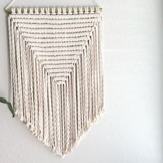 Large Macrame Wall Hanging/Modern by ReformFibers on Etsy