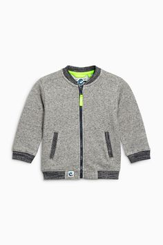 Buy Grey Textured Bomber (3mths-6yrs) from the Next UK online shop