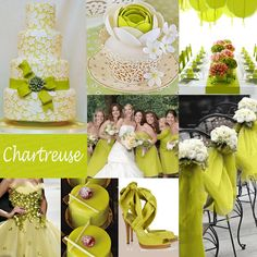 Chartreuse Wedding Color - Not quite green ... not quite yellow ... but a sophisticated color choice that is somewhere in between. It can be paired with a myriad of colors such as pink, turquoise, teal, white, gray and more! #chartreusewedding