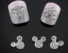 2pc 3D Nail Art Nail Gems Rhinestones Mouse Ears by EasyNailTrends